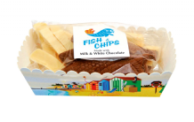 Belgian Milk & White Chocolate Fish And Chips